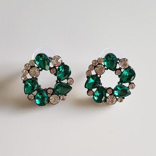 """""""MILLY"""" Earring in Green"""