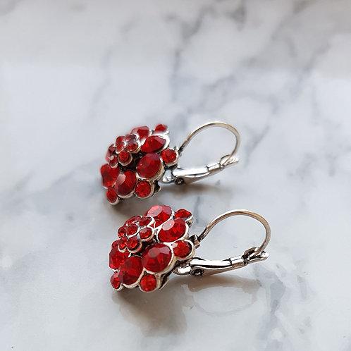 """CATHY"" Earring in Red"