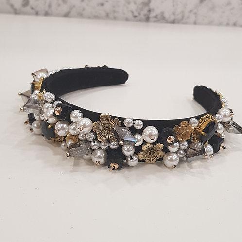 Black Embellished Crown