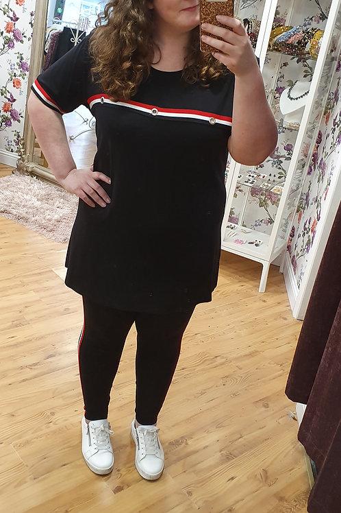 Sport Strip Tunic Top