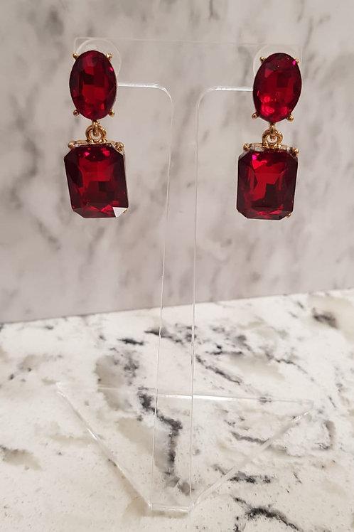 """ROISIN"" Earring in red"