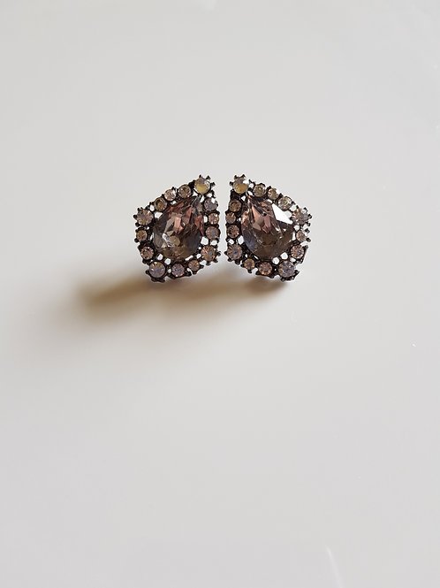 """ZARA"" Earring in Grey"
