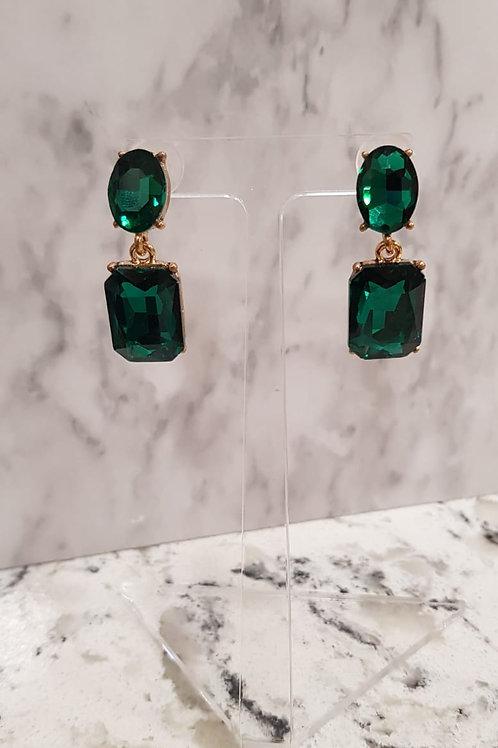 """""""ROISIN"""" Earring in Green"""