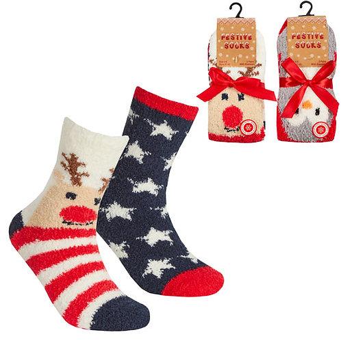 Adult Christmas Fluffy Socks