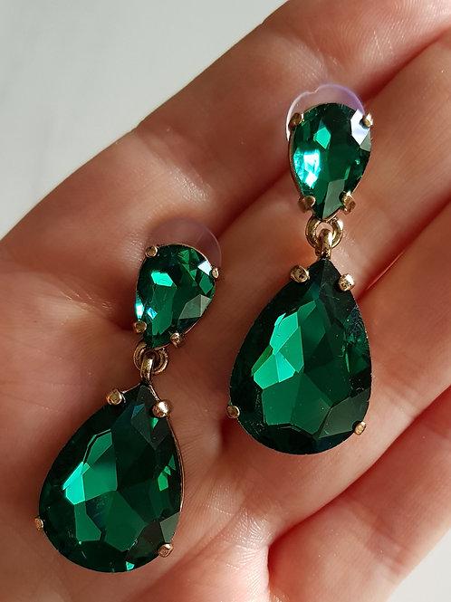 """""""NAOMI"""" Earring in Green"""