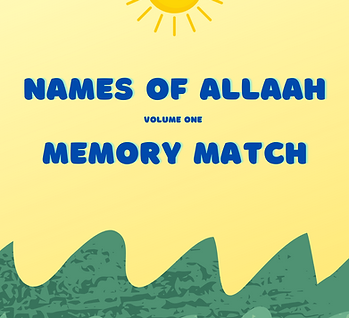 Names of Allaah - Memory Match Vol 1