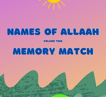 Names of Allaah - Memory Match Vol 2