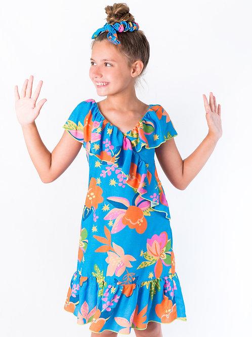 Vestido Blue Print