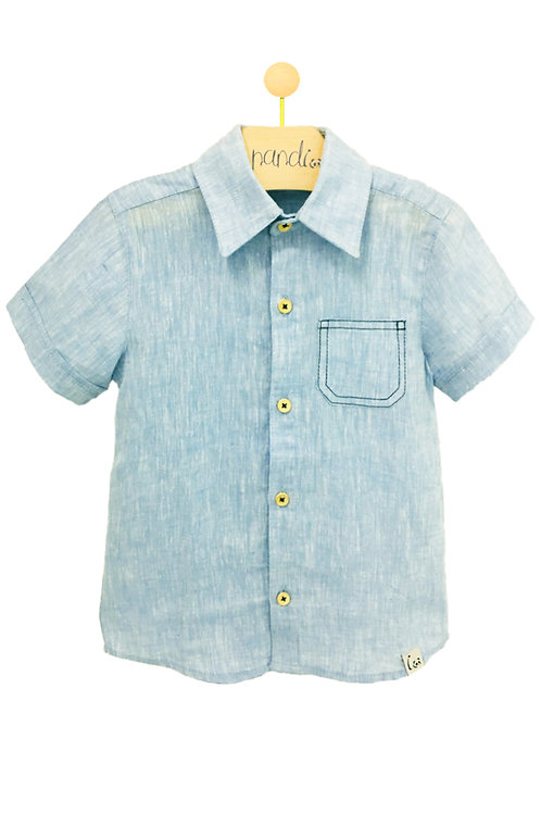 Camisa Linho Pesponto