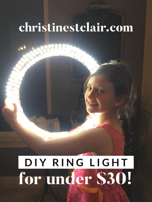 Easy DIY Ring Light Tutorial