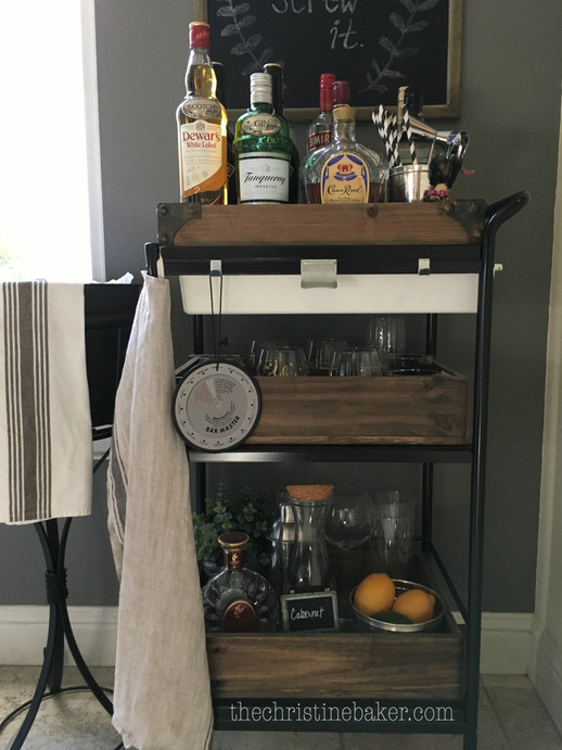 Swanking up an IKEA Bar Cart