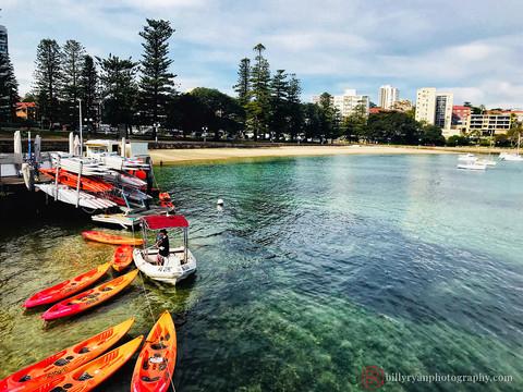 Kayaks, Manly Wharf