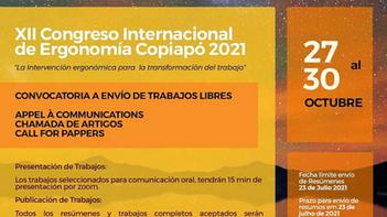 XII Congreso Internacional de Ergonomia Copiapó 2021
