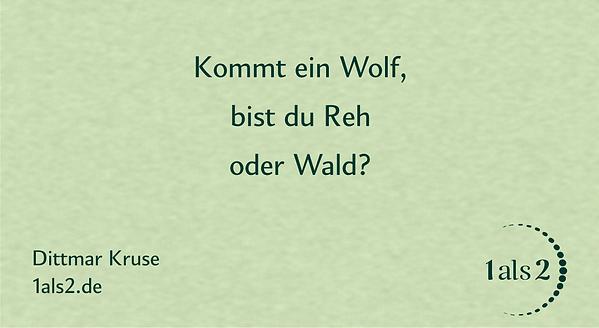 Nondualität Gedichte: Bist du Reh oder Wald?