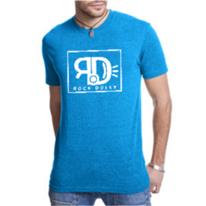 Men's White on Blue RockDolly Tee