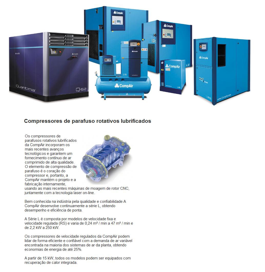 Aba - Vendas - Compressores de parafuso