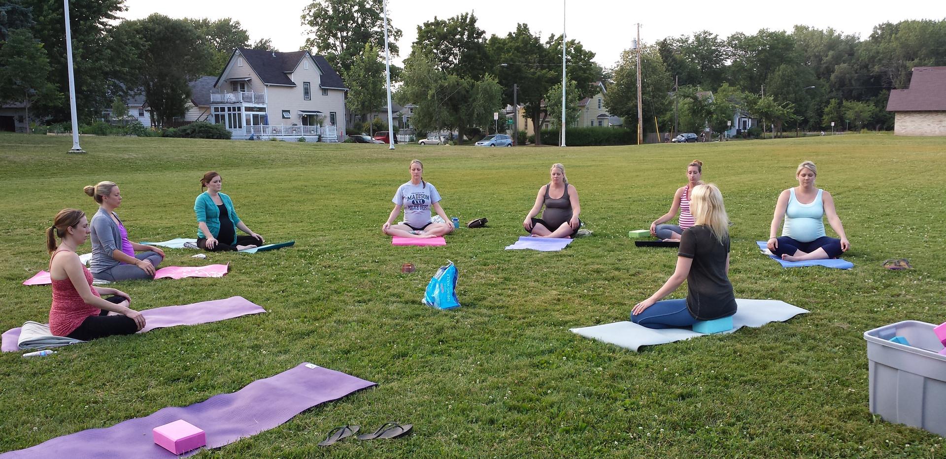 Prenatal Yoga outdoor Class