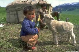 Nomadic Kazak family