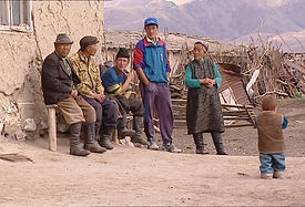 Rural Kazak family