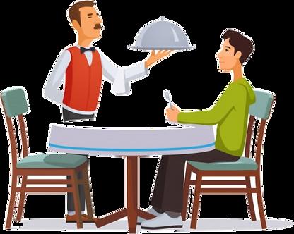 camarero-servicio-plata-plato-tapa-clien