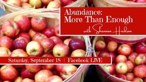 FB Live: Abundance: More Than Enough