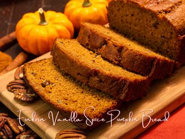 Einkorn Vanilla Spice Pumpkin Bread