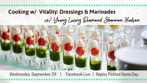 FB LIVE: Cooking w/ Vitality: Dressings & Marinades