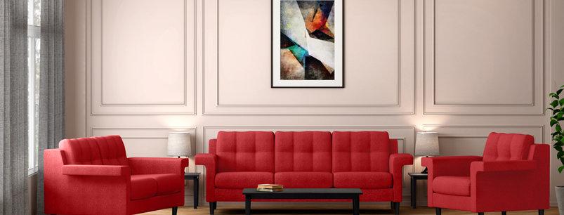 Godrej Flight Sofa Red