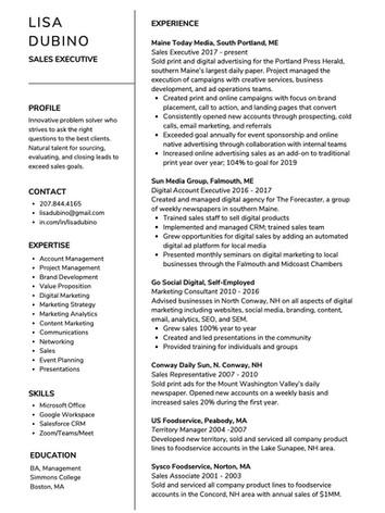 Most Poplular Resume