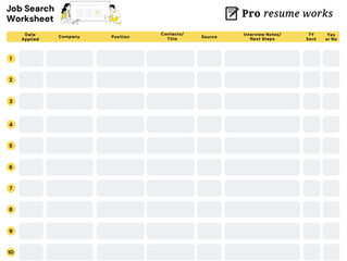 Keep your job search organized