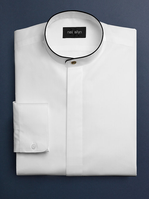 Banded Collar Dress Shirt with trim