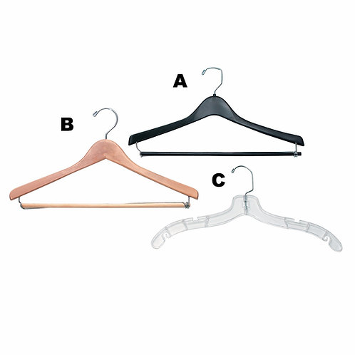 Wooden Uniform Hanger (B)