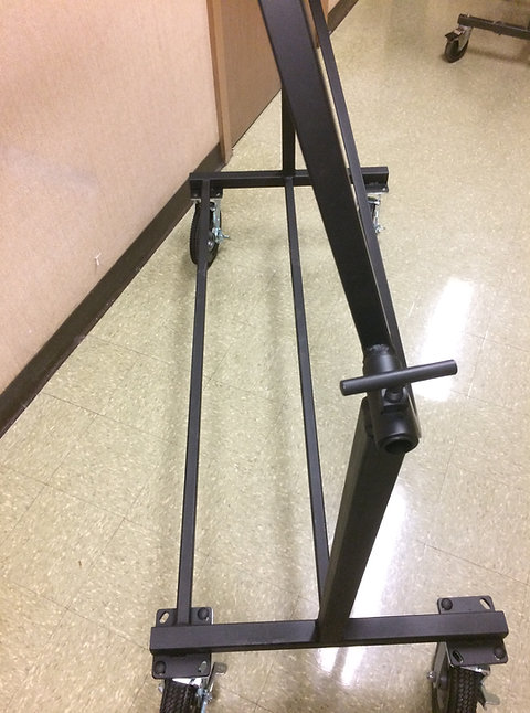 "Bass Drum Stand - 5"" Rubber wheels"