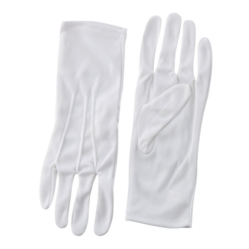 Nylon Glove - Long Wrist, White (pr)