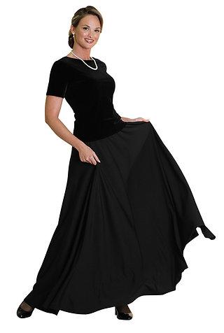 Extra Full, Polyester Knit Concert Skirt (21-37)