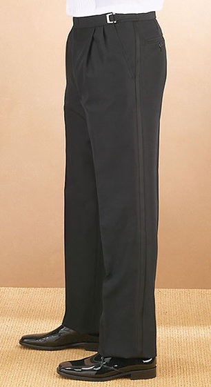 Pleated Front, Adjustable Tux Pants