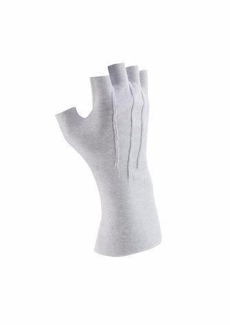 Cotton Glove - Long Wrist, Fingerless (pr)