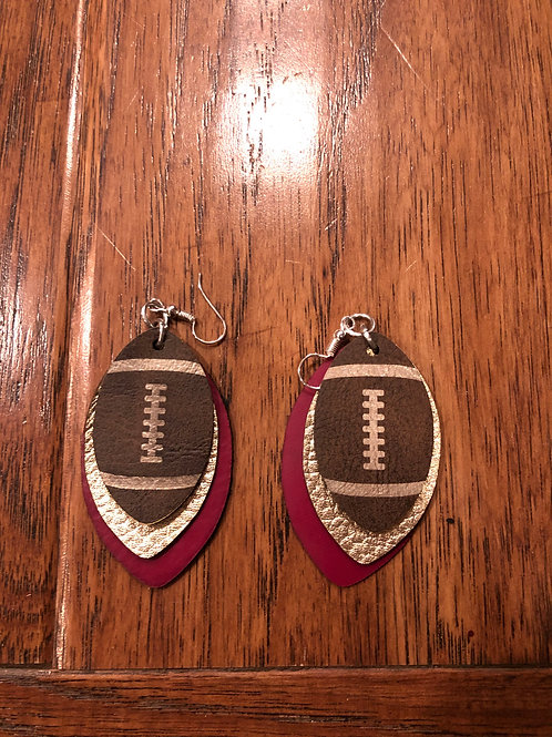Football Earrings (limited supply)