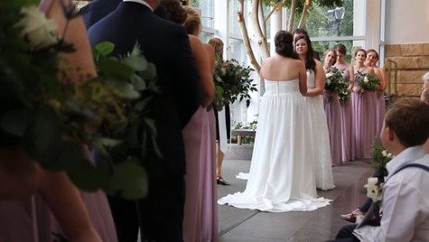To view some parts the videographer included from the ceremony, you can view 2:04-3:20 and 4:25-6:53