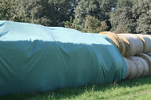 breathable hay tarp for round bales