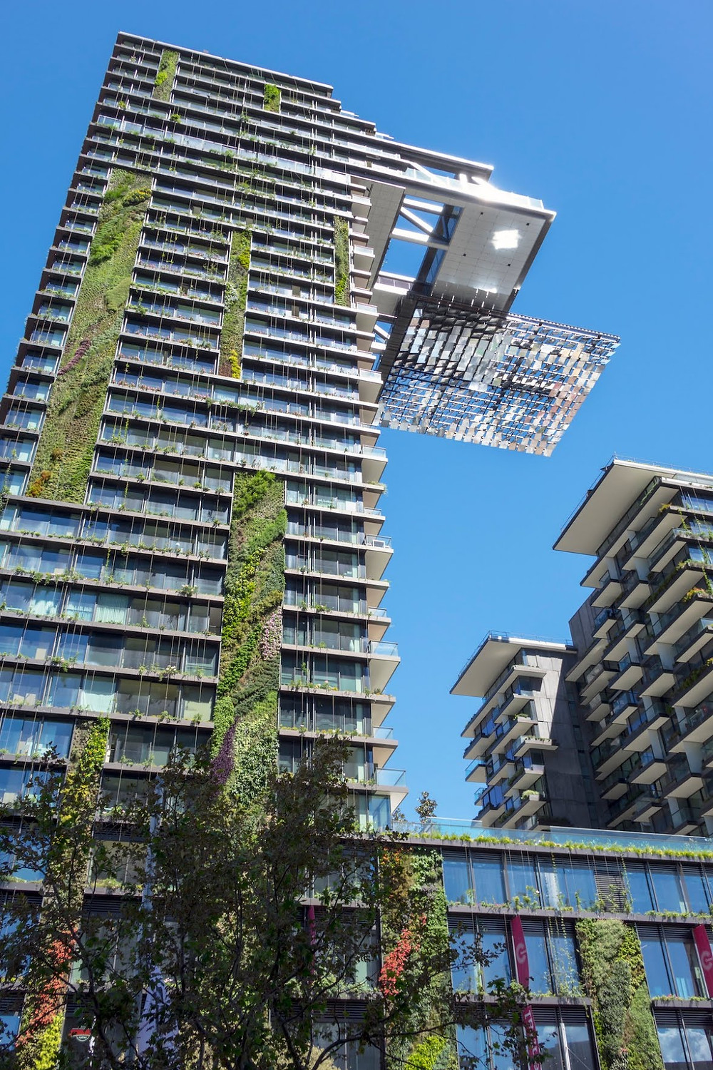 Designed by the Pritzker Prize–winning architect Jean Nouvel, Sydney's One Central Park is as bold as it is eco-friendly. The structure is covered in 35 different species of plants, effectively trapping carbon dioxide, emitting oxygen, and providing energy-saving shade.