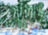 Landskapsmålning av Annika Berger