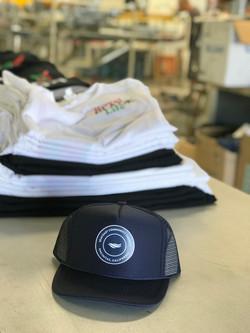 custom hat and tshirts