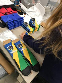 cyborg socks in production