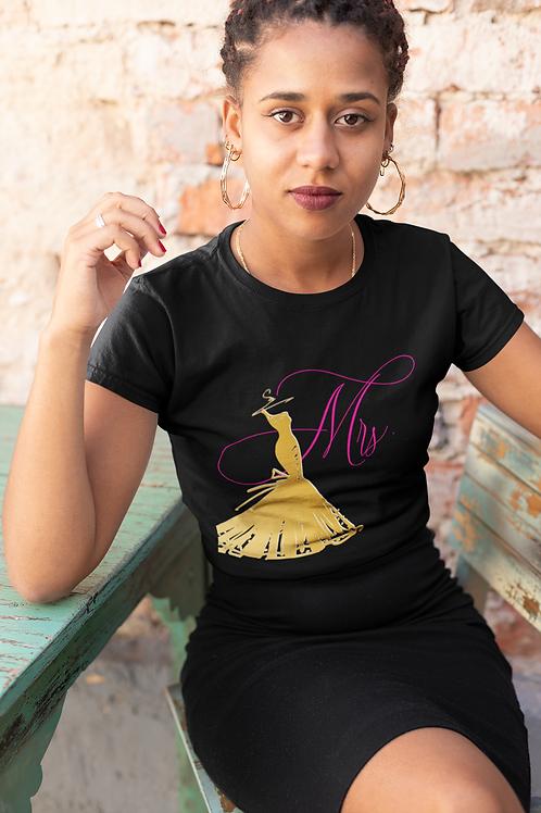 Mrs. Shirt (Gold & Pink)