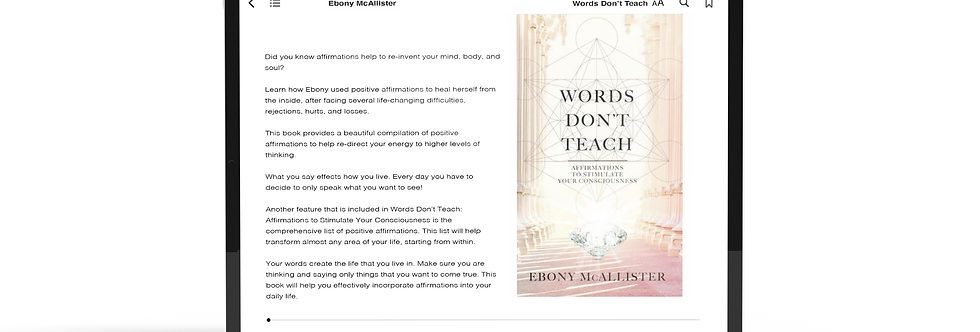 Words Don't Teach: Affirmations to Stimulate Your Consciousness (eBook)