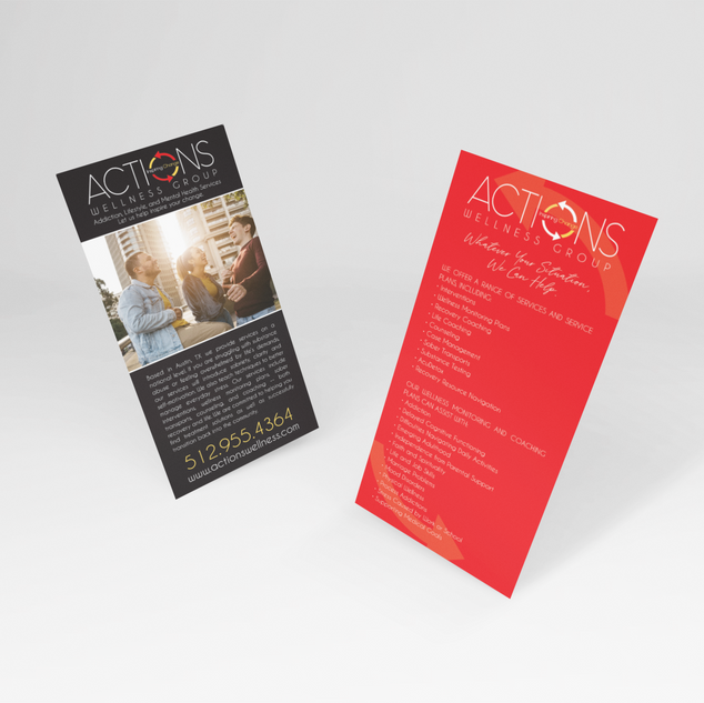 mockup-of-two-dl-flyers-floating-in-a-mi