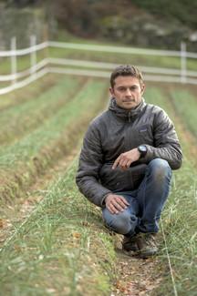 Sylvain Martinez-Ciccolini sur la safranière
