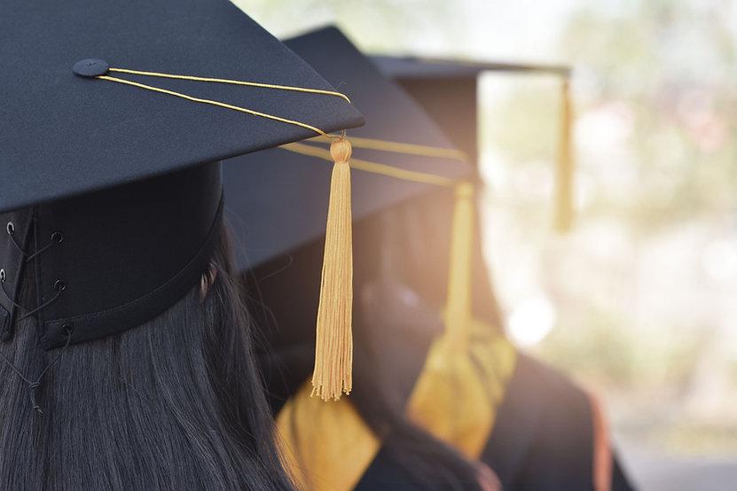 casquillos de la graduación
