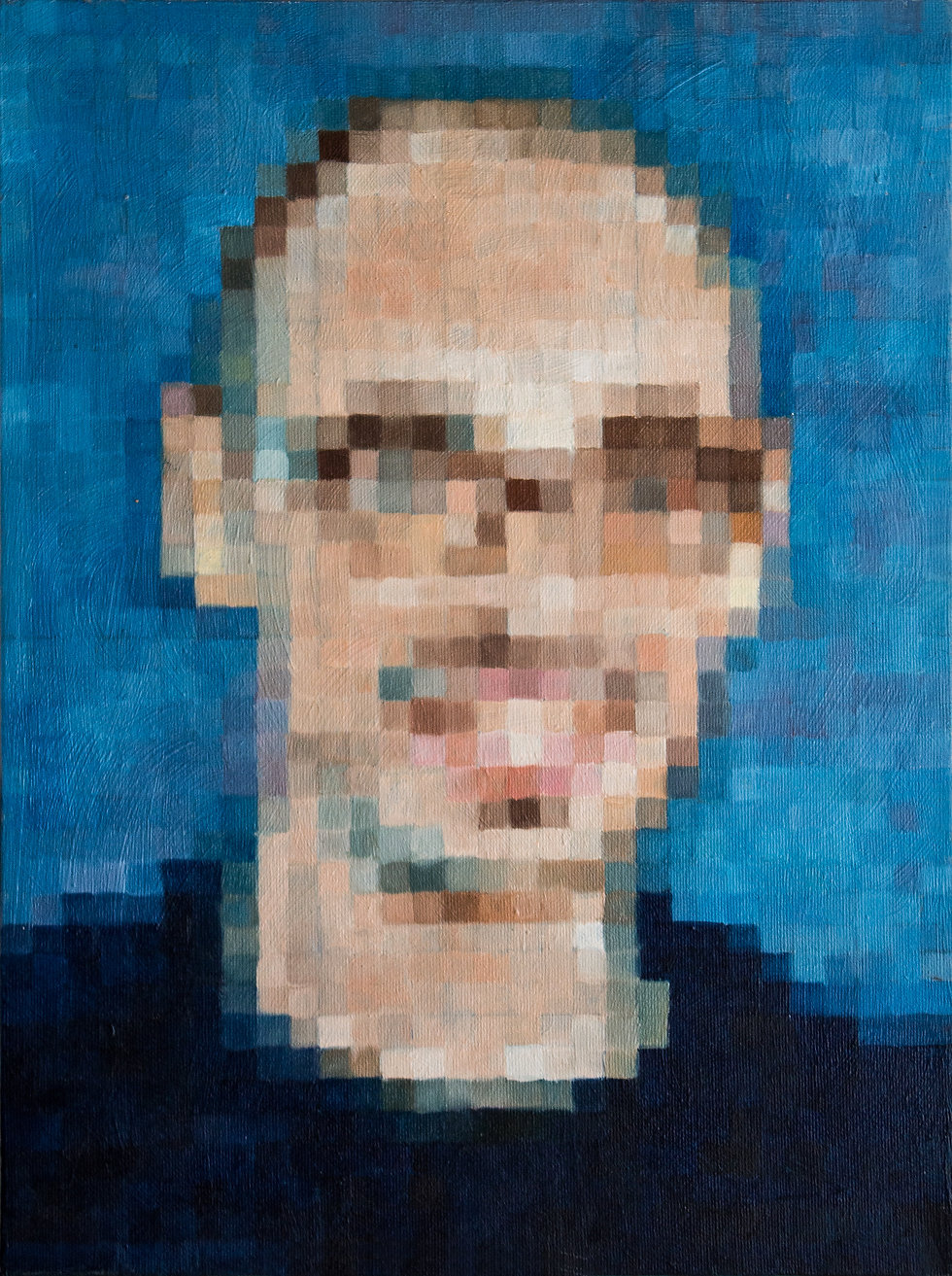 Salvatore Aranzulla, nicola piscopo, oil on canvas, pixel, icon